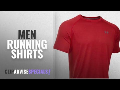 10 Best Men Running Shirts : Under Armour Men's UA Tech Short Sleeve T-Shirt, Red/Graphite, Small