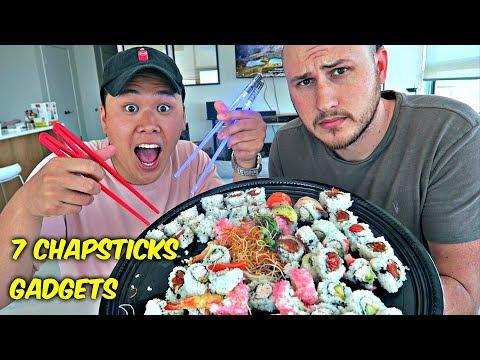 7 Chopsticks Gadgets put to the Test! (видео)