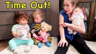 Reborn Baby Doll Morning Routine While Toddler Twin Reborns Fight Over Paw Patrol