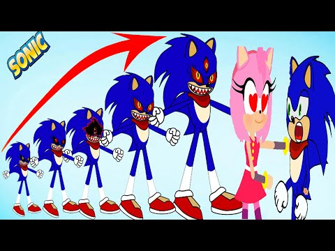 Cartoon Sonic EXE Growing Up Compilation in Prison - Sonic The Hedgehog 2021 TZL Games