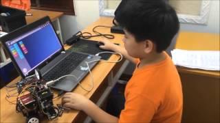 Toàn cảnh lớp lắp ráp và lập trình robot - Roborobo