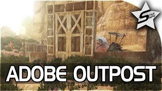 "ARK: SCORCHED EARTH Gameplay Part 10 - ""ADOBE OUTPOST / BASE BUILDING"" (ARK Survival Evolved)"