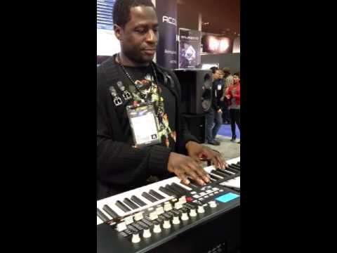 Ray Angry using SWAGG at the 2013 NAMM show