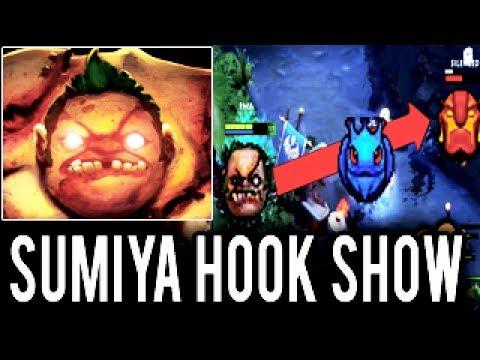 SumiYa Best Pudge Hook Show OMG Hook Master 99% WTF MAX RANGE Dota 2
