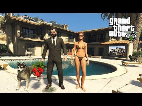 GTA 5 Real Life Mod #42 - BUYING A NEW HOUSE!! (GTA 5 Mods) (видео)