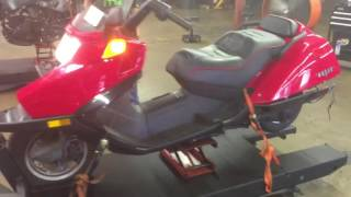 5. 2004 Honda Helix CN 250 (red) 1942 Fallen Cycles