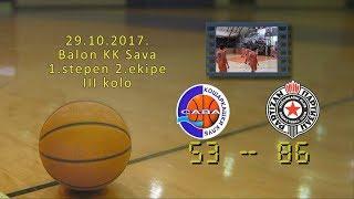 kk sava kk partizan 53 86 (kadeti 2, 29 10 2017 ) košarkaški klub sava