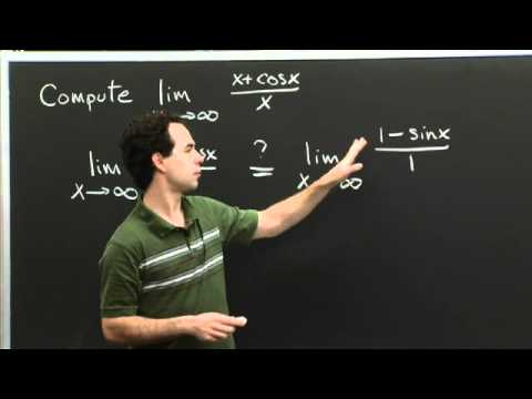 Failure of L'Hospital's Rule | MIT 18.01SC Single Variable Calculus, Fall 2010