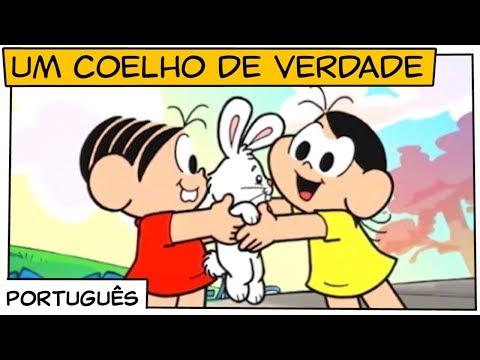 Imagens de feliz páscoa - Um Coelho de Verdade  Turma da Mônica