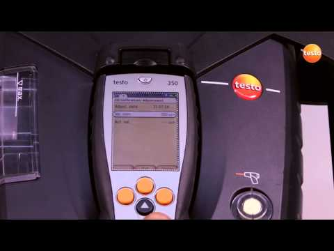 testo 350 Gas Analyser - Step 8 - How to Adjust Sensors
