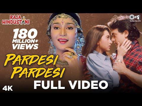 Pardesi Pardesi Full Video Song | Raja Hindustani | Aamir Khan, Karisma Kapoor | Udit N, Alka