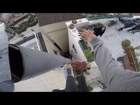 Galata Kulesi'nin Karşısında ki Çatılarda Parkour ( Roof Culture )