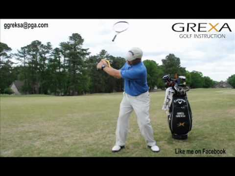 Racket / Swing Guide Drill for proper lag and release – by Grexa Golf Instruction