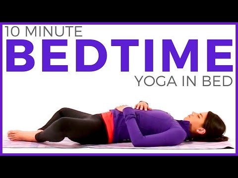 10 Minute Bedtime Yoga In Bed | Relaxing Bedtime Yoga Routine