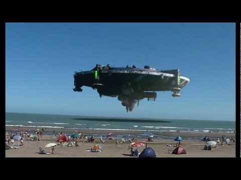 ufo in spiaggia - argentina