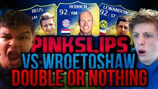 INSANE DOUBLE OR NOTHING PINKSLIPS VS WROETOSHAW!!! - FIFA 14 Ultimate Team NEXT GEN LIVE