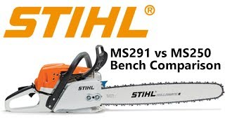 2. Stihl MS291 and MS250 Benchtop Side by Side