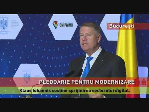 Klaus Iohannis susţine sprijinirea sectorului digital