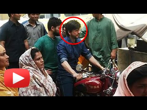 Shaharukh Khan On A Bike | Raees Shooting