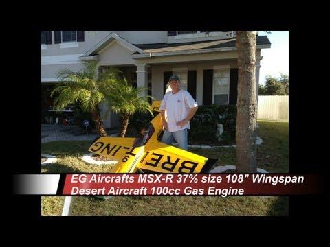 MXS-R 37percent 108inch wingspan DA100cc Nigel Lamb Breitling Maiden Flight 11-12-2012
