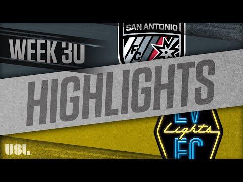 Сан-Антонио - Las Vegas Lights 3:1. Видеообзор матча 07.10.2018. Видео голов и опасных моментов игры
