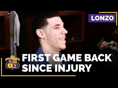Video: Lakers Rookie Lonzo Ball After His First Game Back Since Injury