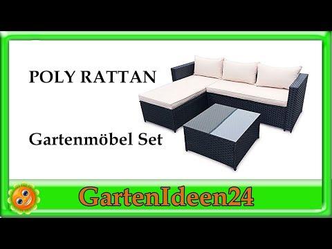 POLY RATTAN Gartenmoebel Set aus Rattan | Gartenideen | Gartenset und Sitzmöbel zum Wohlfühlen