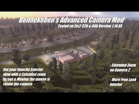 Bennekeben's Advanced Camera mod V2.0 ets2 v1.19