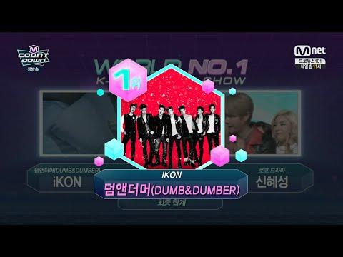 iKON - '덤앤더머(DUMB&DUMBER)' 0121 M COUNTDOWN : NO.1 OF THE WEEK