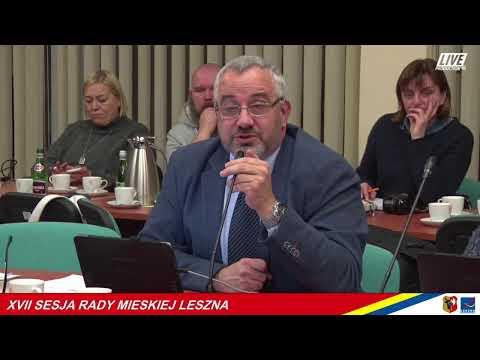 Wideo1: XVII Nadzwyczajna Sesja Rady Miejskiej Leszna