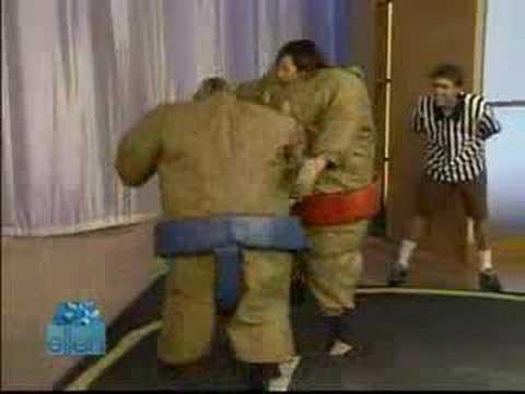 Ellen and Allison Jenney Sumo Wrestling