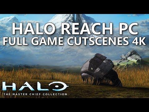 Halo Reach PC 4K ALL Cutscenes Movie - Halo Masterchief Collection