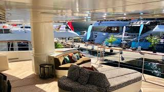 Download Lagu Our Visit of the Largest Crewed Luxury Yacht Charter Catamaran in the World:  Hemisphere Mp3