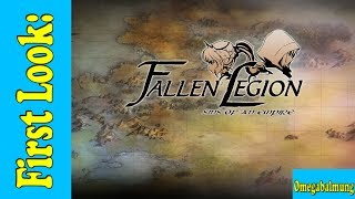 Here is my first look for Fallen Legion: Sins of an Empire on the Playstation 4. I will also have a review video up by the end of this week so look forward to it.In Fallen Legion: Sins of an Empire for PlayStation 4, you embark on a journey with Princess Cecille and an enigmatic talking grimoire to restore glory to your crumbling home. You get the chance to explore gorgeous, hand-drawn lands inhabited by rival soldiers and ferocious dragons. As well as fight enemy hordes with a team of living weapons and master devastating combo attacks to defeat challenging bosses with the game's deep combat system.The review copy was provided by the publisher YUMMYYUMMYTUMMY.Subscribe If you like my videos: http://www.youtube.com/user/Omegabalmung99?feature=mheeYou can also catch me on Twitch!https://www.twitch.tv/omegabalmung -- Watch live at https://www.twitch.tv/omegabalmung -- Watch live at https://www.twitch.tv/omegabalmung