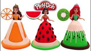 Video Learn Colors Play Doh Fruit Disney Princess Dresses Belle Ariel Magiclip MP3, 3GP, MP4, WEBM, AVI, FLV September 2017
