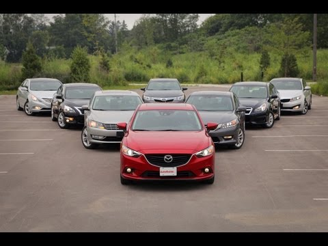 2013-14 Mid-Size Sedan Comparison Test: Toyota Camry vs Honda Accord vs Mazda6 and more