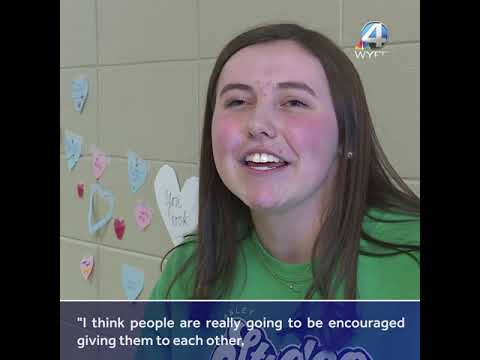 Love messages - Easley students covered the school with love, messages