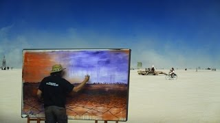 Download Lagu Burning Man 2015 - Painting Timelapse by Chad Rice Mp3