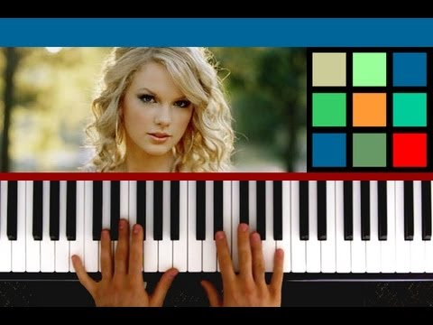 """How To Play """"Love Story"""" Piano Tutorial / Sheet Music (Taylor Swift)"""