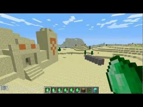 Minecraft How To Find and Sell Emeralds, Pyramids, Sandstone Stairs - Snapshot Week 21 12w21a