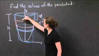 Computing The Volume Of A Paraboloid | MIT 18.01SC Single Variable Calculus, Fall 2010