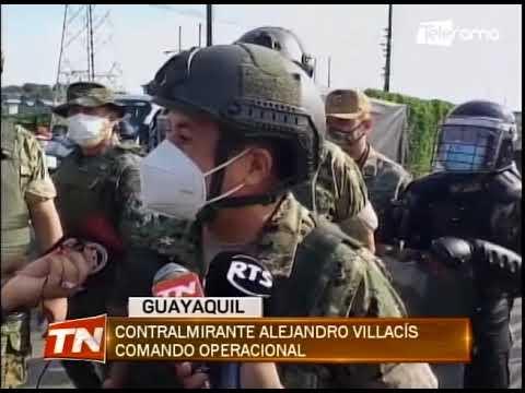 Fuerzas armadas resguardan perímetro de seguridad tras fuga de reos esta madrugada