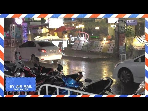 Chaweng Beach Monsoon Rain Koh Samui Thailand – Night on Chaweng Beach Road