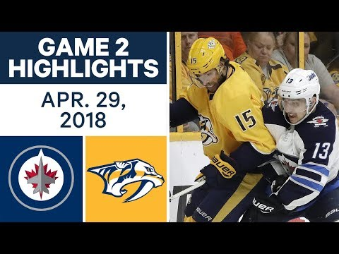 Video: NHL Highlights | Jets vs. Predators, Game 2 - Apr. 29, 2018