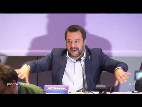 Europawahlkampf: PK mit Salvini und Meuthen am ...