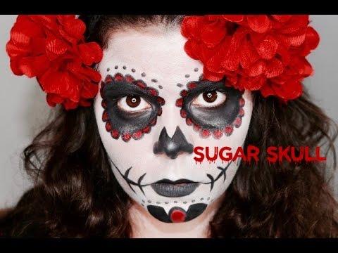 Tuto Maquillage Halloween: SUGAR SKULL / Tête de mort mexicaine 🎃💀