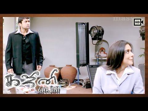 Video Ghajini Tamil Movie   Scenes   Suriya, Asin's First Meet download in MP3, 3GP, MP4, WEBM, AVI, FLV January 2017