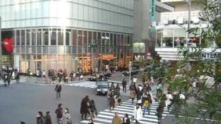 Ginza pedestrian crossing time-lapse