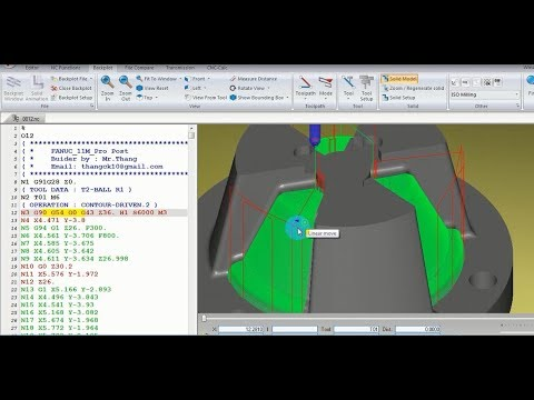 Verify G-CODE from CATIA with CIMCO Edit software CNC