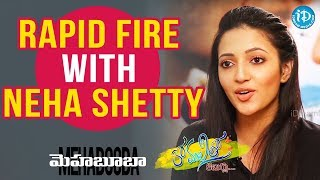 Video Rapid Fire With Neha Shetty || Anchor Komali Tho Kaburlu || #Mehabooba MP3, 3GP, MP4, WEBM, AVI, FLV Juli 2018